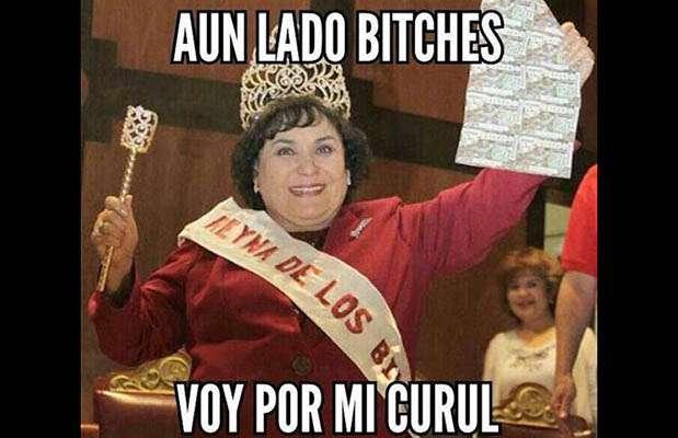La actriz mexicana Carmen Salinas se lanzó como candidata a diputada por el PRI, razón por la que fue víctima de memes. Foto: Facebook / Twitter