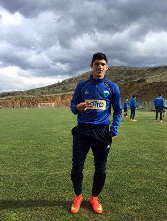 La FIFA otorgó al jugador un pase provisional para jugar con el Levadiakos. Foto: Tomada de Facebook