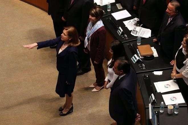 Arely Gómez ocupará la vacante que dejó Jesús Murillo Karam al partir a la Sedatu. Foto: Israel Rosas/Reforma