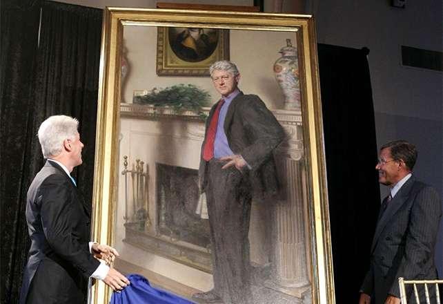 El cuadro fue pintado en 2006 por encargo de la Galería Nacional de Retratos. Foto: AP en español