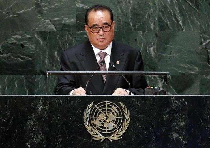 Chanceler norte-coreano falou em Conferência ao Desarmamento, apoiada pela ONU, sobre possibilidades de guerra Foto: Ray Stubblebine/Reuters