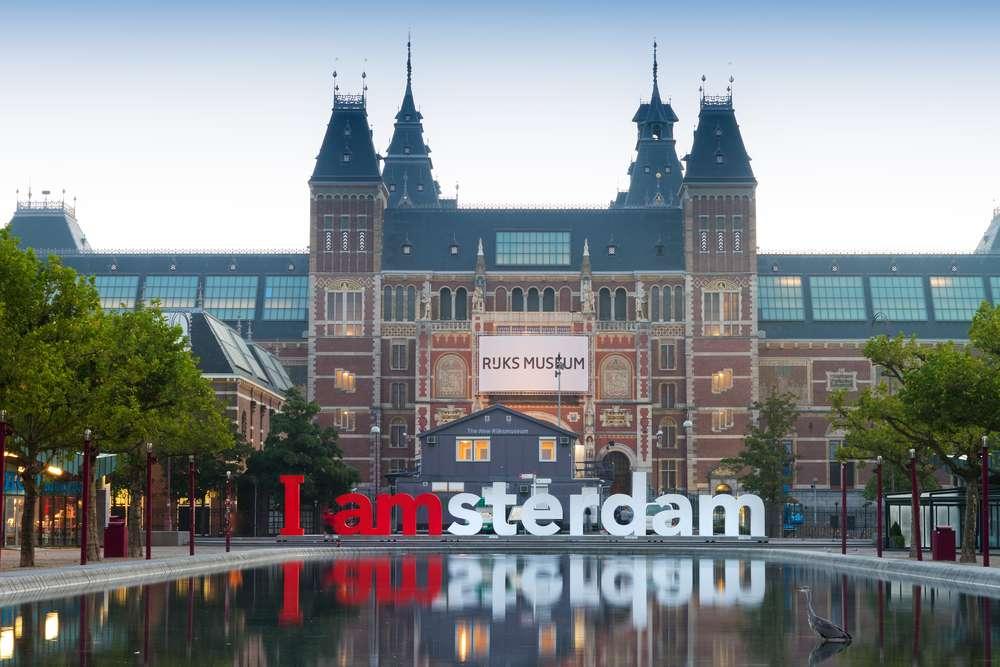 A Praça dos Museus é onde fica a famosa placa I amsterdã Foto: Dennis van de Water/Shutterstock