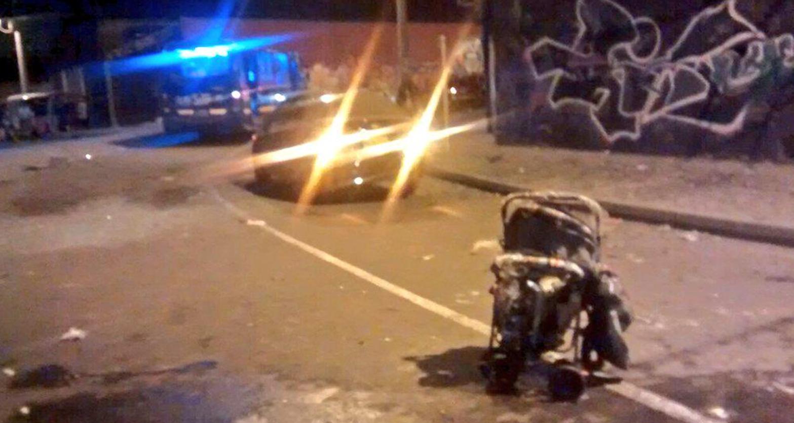 Imagen de la explosión que tuvo lugar en un parqueadero ubicado en la calle 67 con carrera 113. Foto: @BomberosBogota