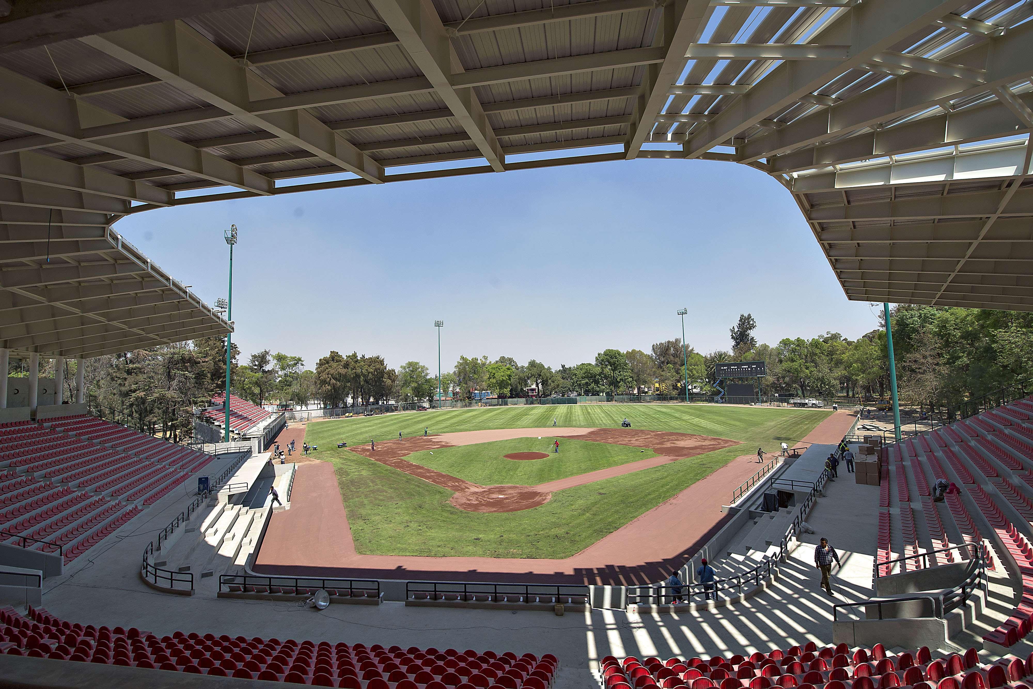 El estadio Fray Nano, nueva casa de los Diablos Rojos del México, toma forma y estará listo para la temporada 2015, donde los pingos buscar el bicampeonato de la Liga Mexicana de Beisbol. Foto: Mexsport