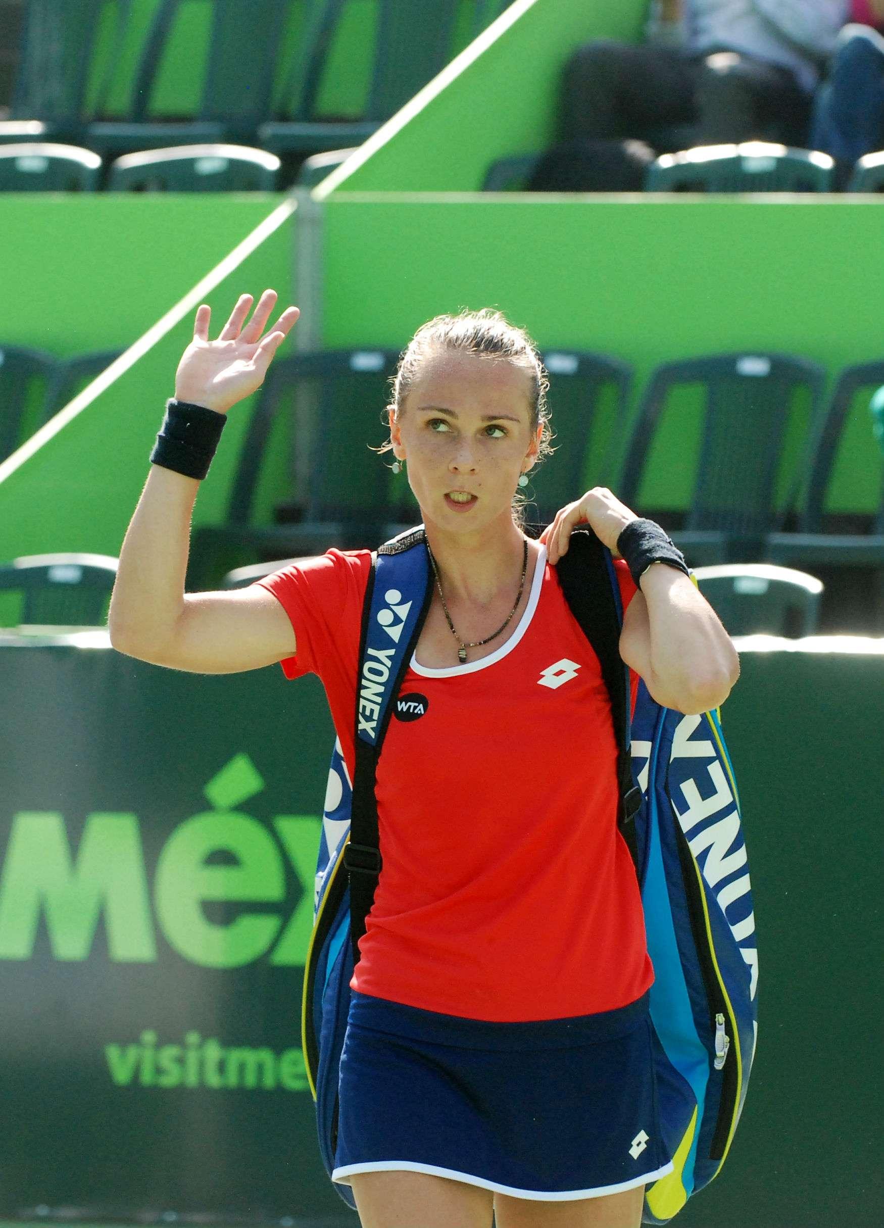 Jovana Jaksic perdió en tres sets ante Magdalena Rybarikova en el Abierto de Tenis Monterrey. Foto: Emilio López/Terra