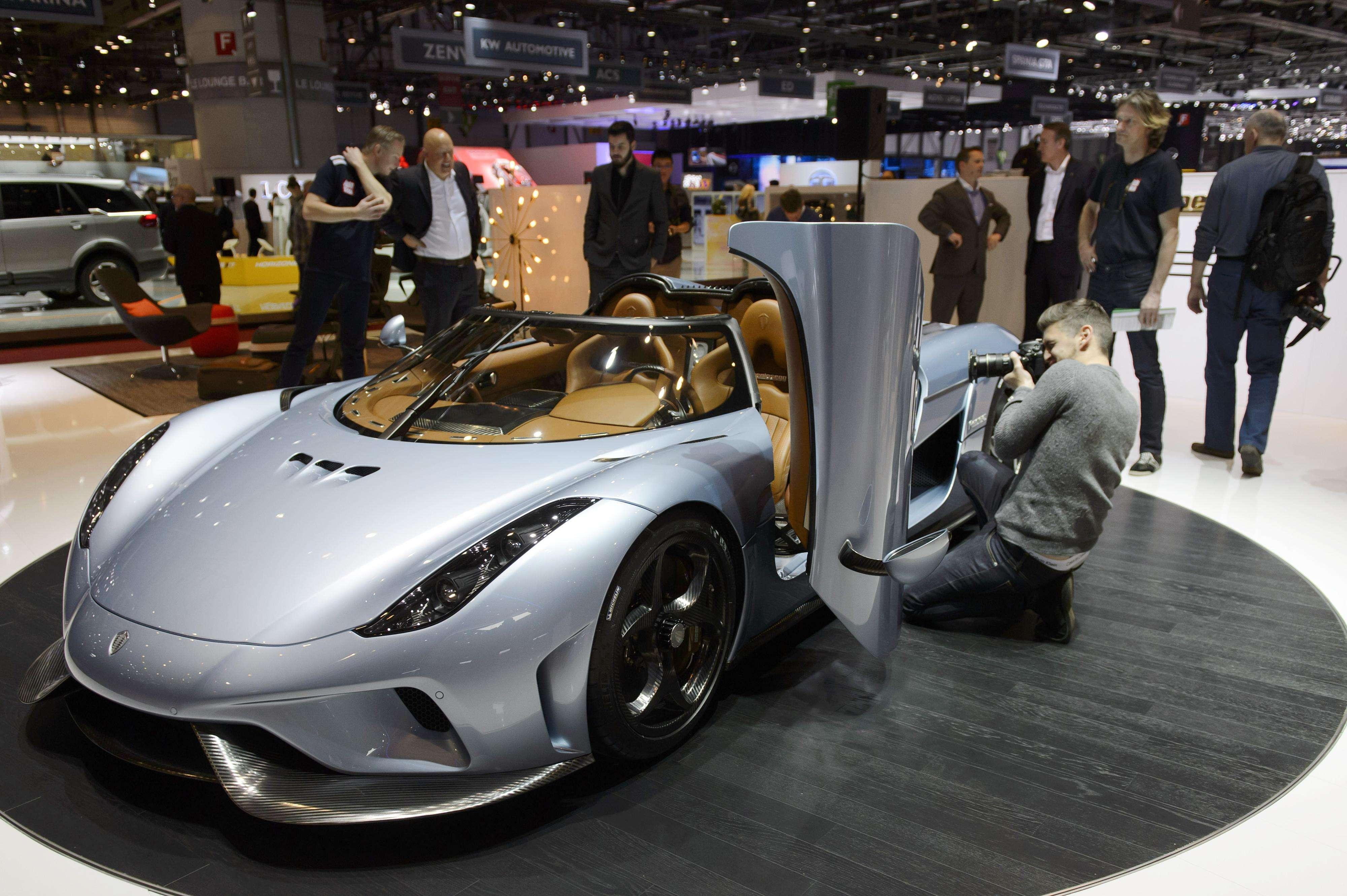 Koenigsegg Regera possui três motores elétricos e um propulsor de 5.0 litros Foto: AP