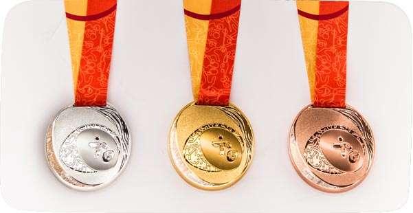 Muy bellas lucen las medallas que se entregarán en los Juegos Panamericanosd e Toronto 2015 Foto: Divulgación www.toronto2015.org