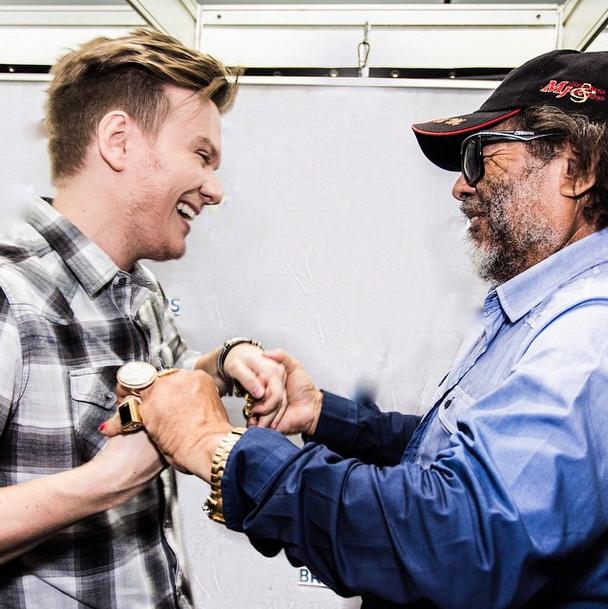 Michel Teló publicou foto de encontro com José Rico Foto: Instagram/Reprodução