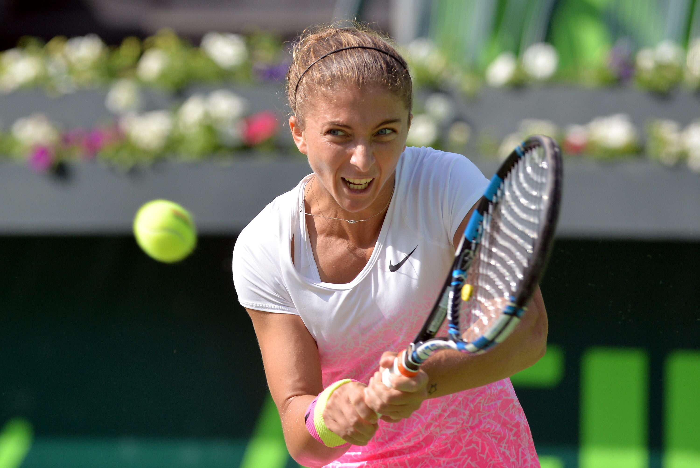 La italiana Sara Errani comenzó con un triunfo sobre Lauren Davis en el Abierto de Tenis Monterrey. Foto: EFE