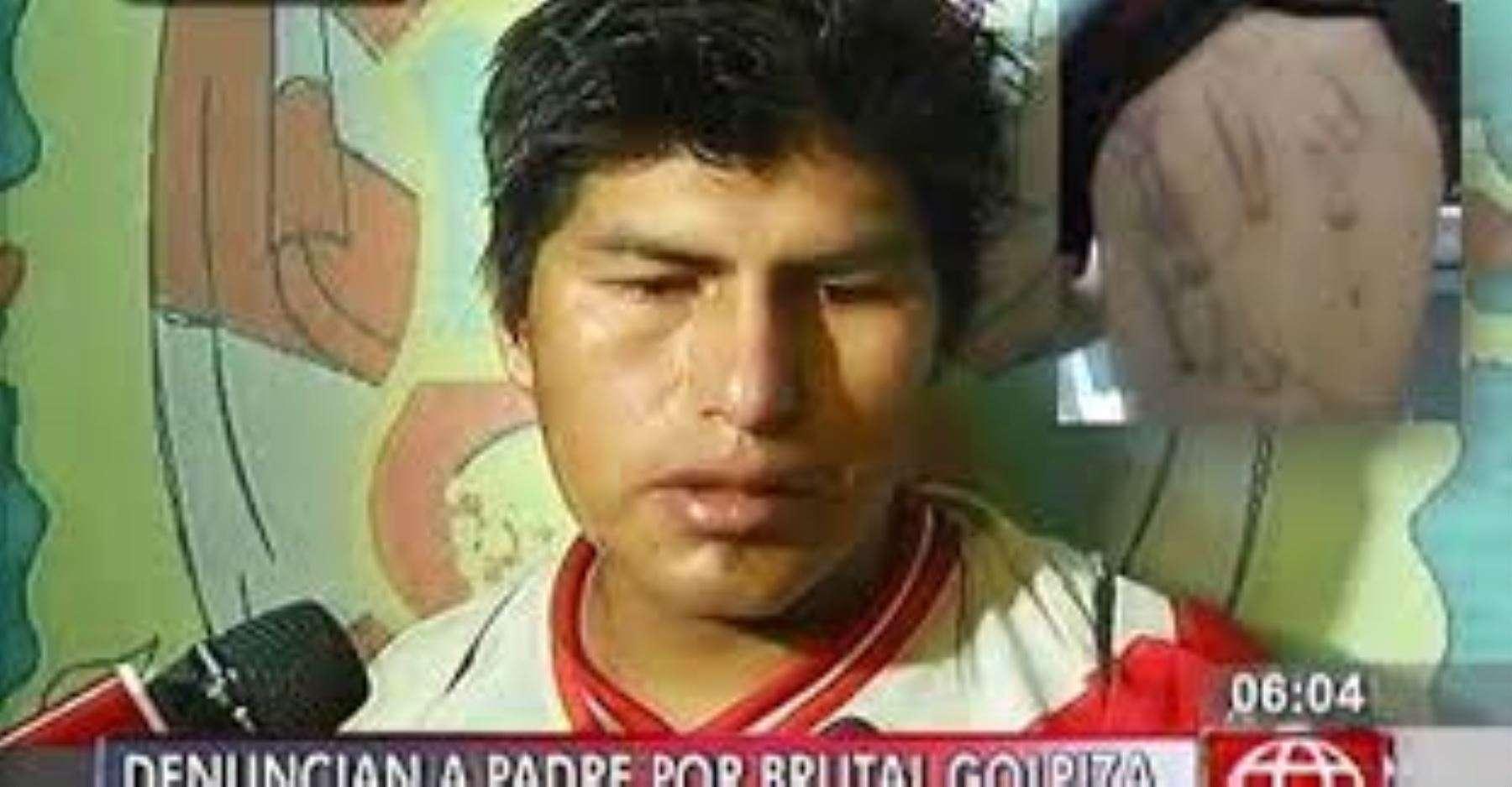 Oriol Leonidas Zevallos Valerio, presunto agresor de su hijo de 7 años. Foto: Captura
