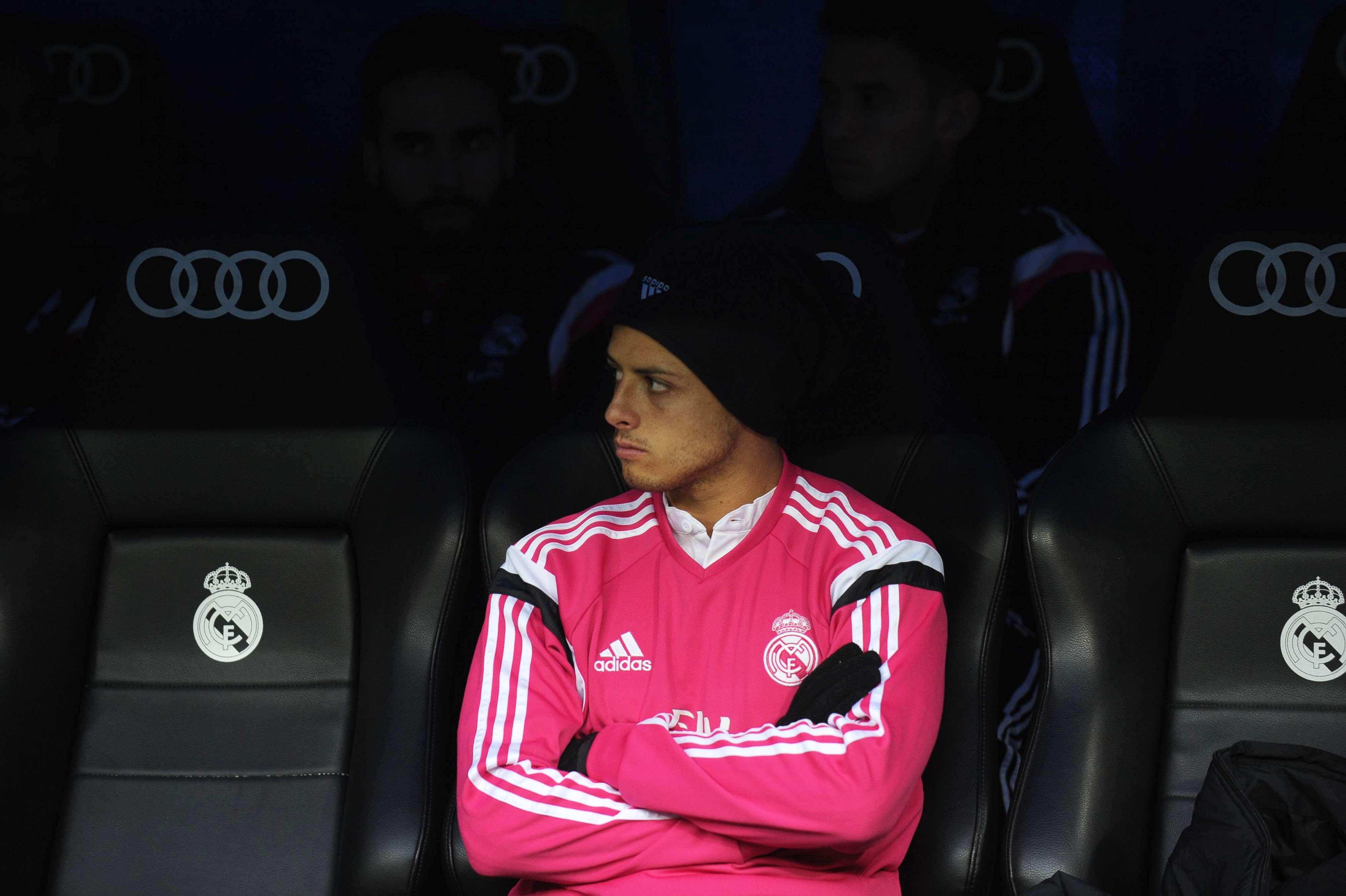 """""""Chicharito"""" suma tres goles de Liga en la presente temporada con el Madrid. Foto: Mexsport"""