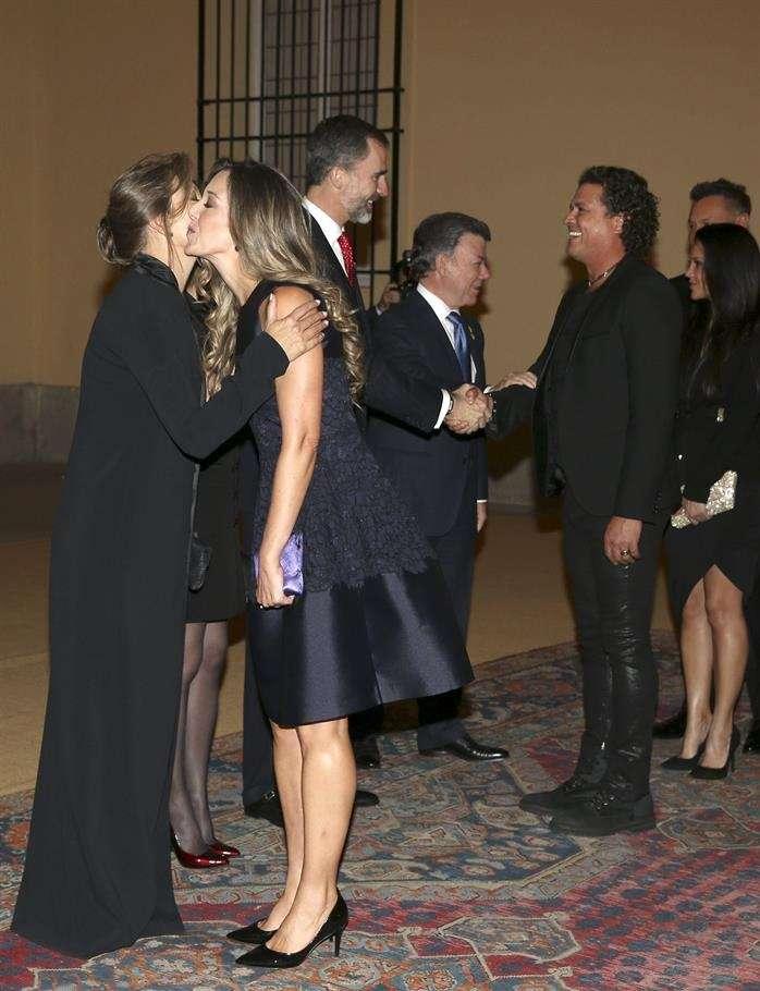 Visita de Carlos Vives a los reyes de España. Foto: EFE en español