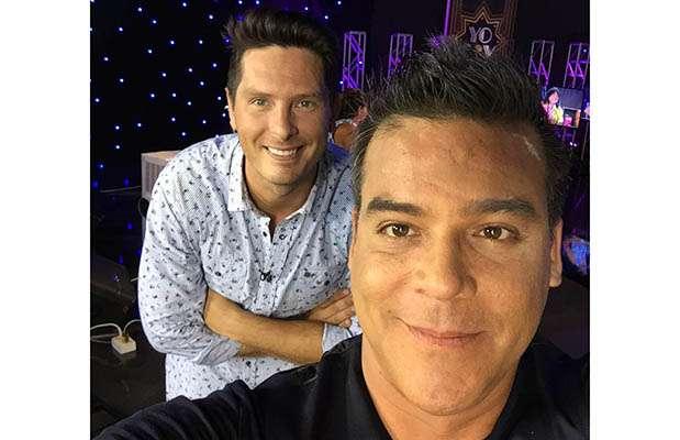 """Adolfo Aguilar y Christian Rivero en """"Yo soy"""". Foto: Facebook"""