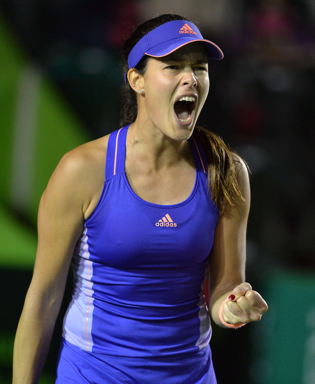 La serbia Ana Ivanovic ganó el primer partido dentro del Abierto de Tenis Monterrey. Foto: EFE