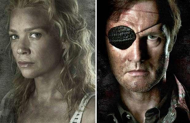 """Laurie Holden (Andrea) y David Morrissey (el """"Gobernador""""). Foto: Comic-Con"""