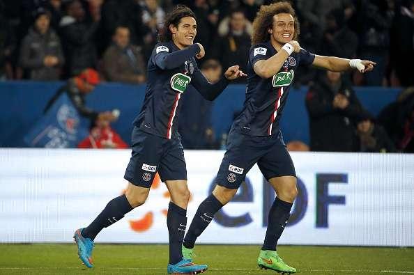 David Luiz y Edinson Cavani los anotadores del París Saint Germain Foto: Gettty Image