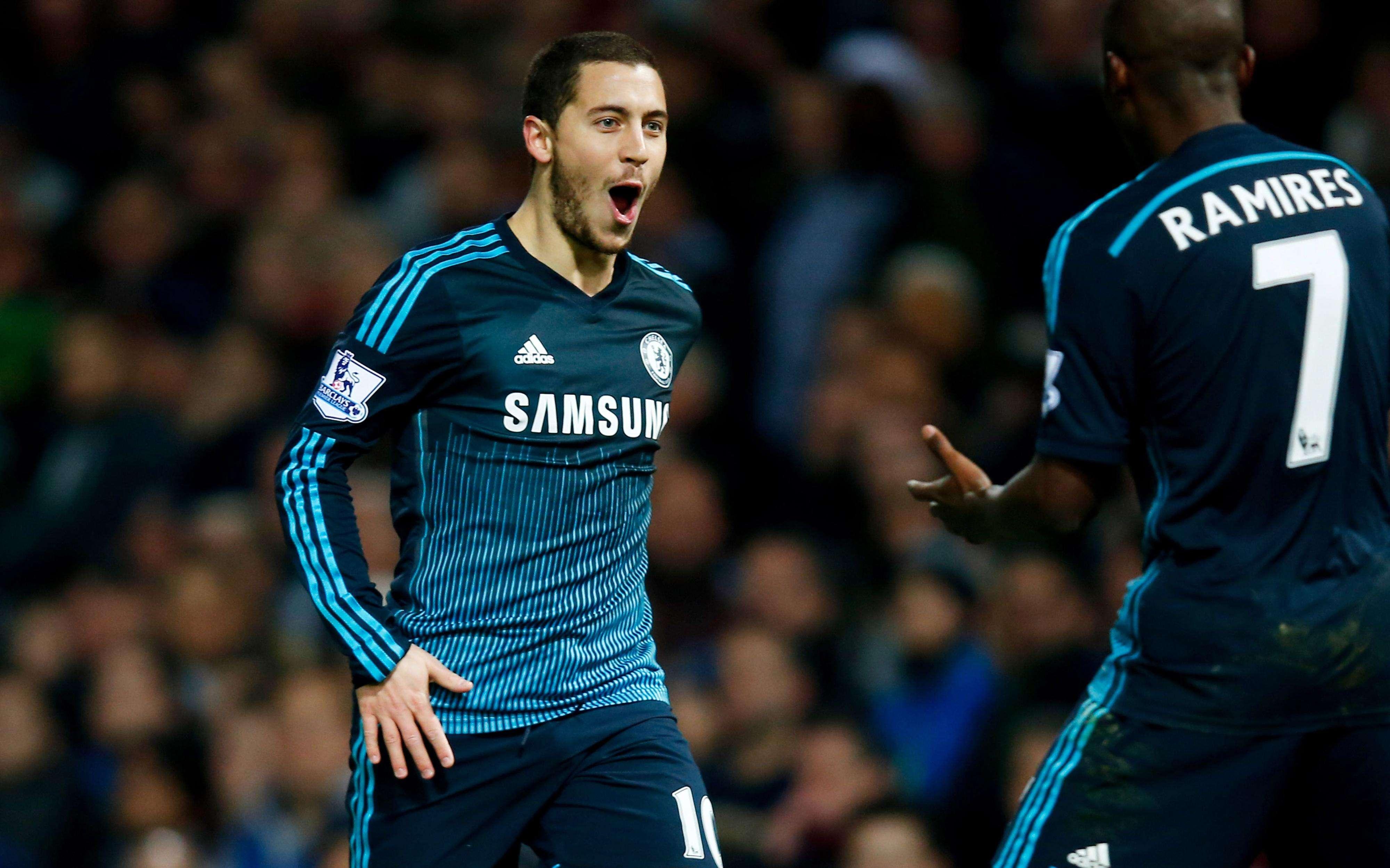 Eden Hazard celebra el gol del triunfo de Chelsea sobre West Ham United. Foto: Getty Images