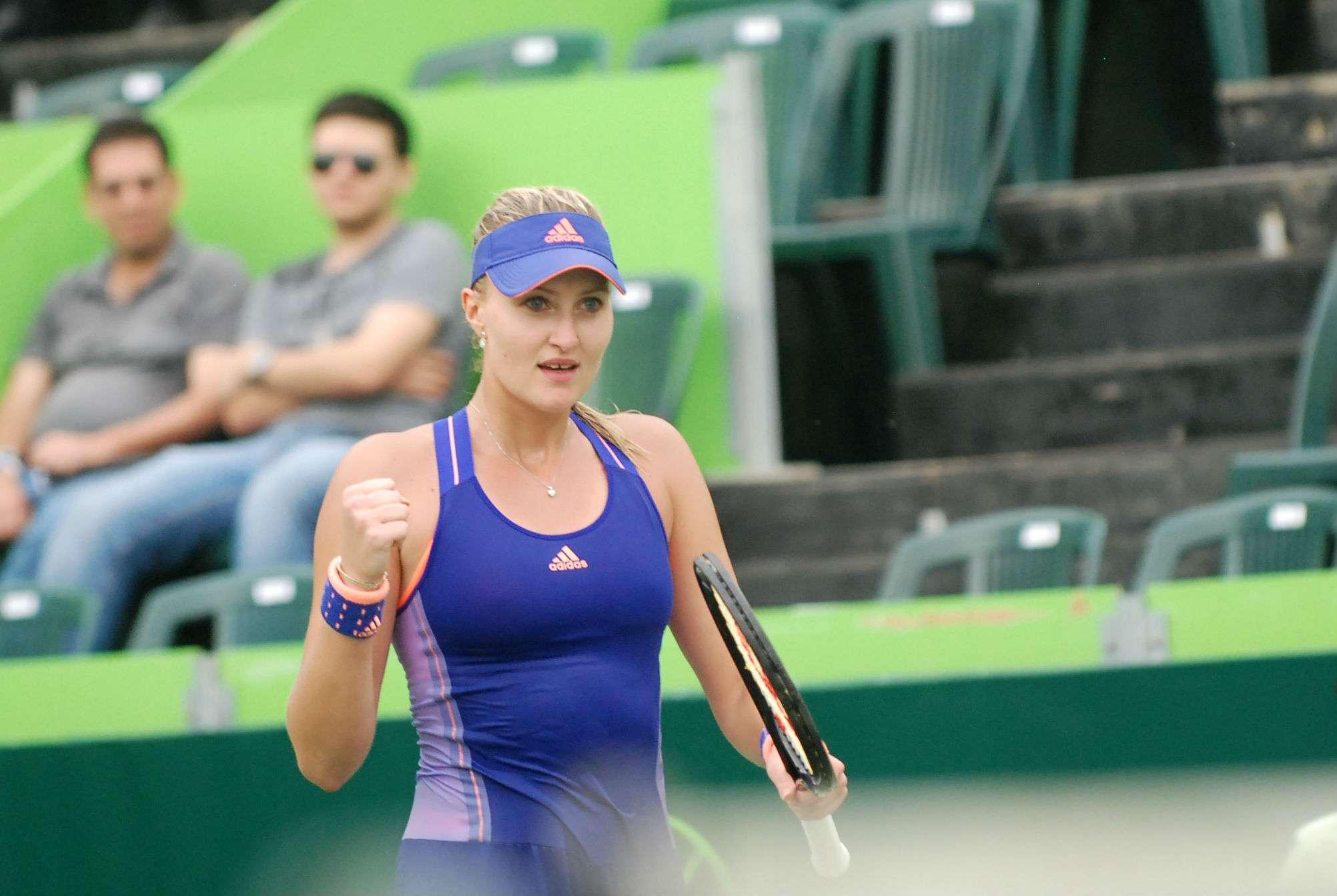 Kristina Mladenovic venció a Vera Zvonareva en el Abierto de Tenis Monterrey. Foto: Terra