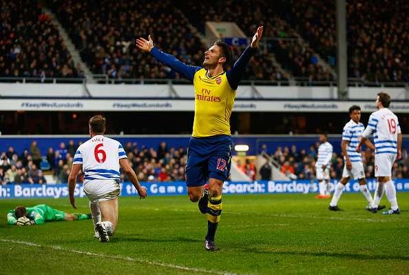 Giroud abrió el camino del triunfo para los londinenses. Foto: Getty Images