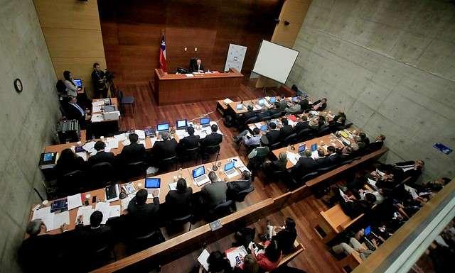 Audiencia de formalización del caso Penta en el Octavo Juzgado de Garantía en el Centro de Justicia. Foto: Agencia Uno