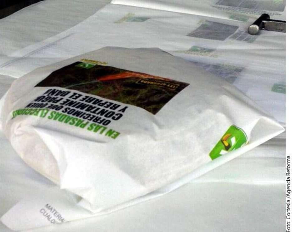 Por hacerse propaganda a través de casi medio millón de pliegos de papel para envolver tortillas, el Partido Verde fue multado con 5.3 millones de pesos por la Sala Especializada del Tribunal Electoral del Poder Judicial de la Federación. Foto: Reforma