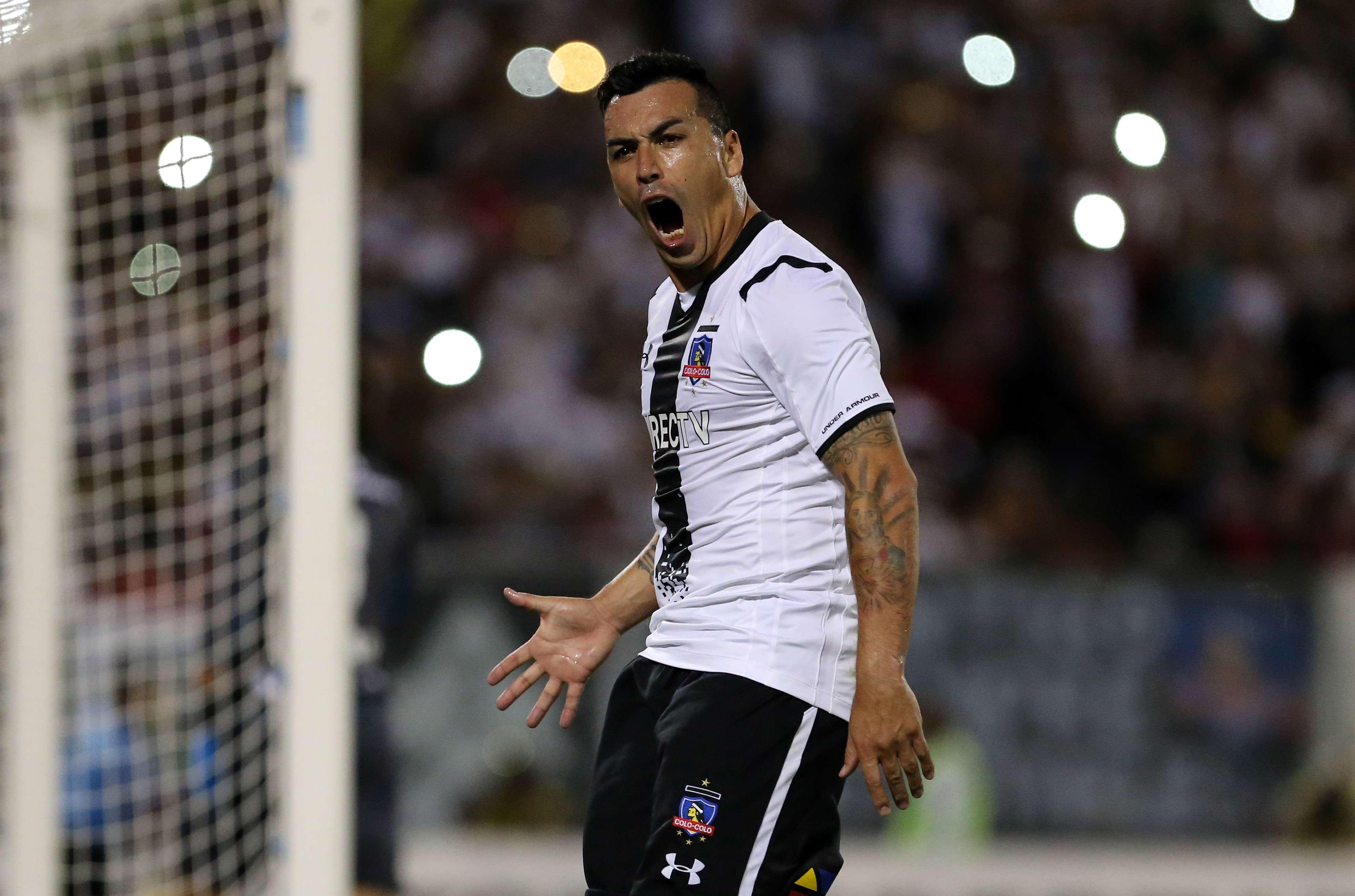 Con doblete de Esteban Paredes, colo Colo liquida al Atlas, en la Copa Libertadores Foto: Mexsport