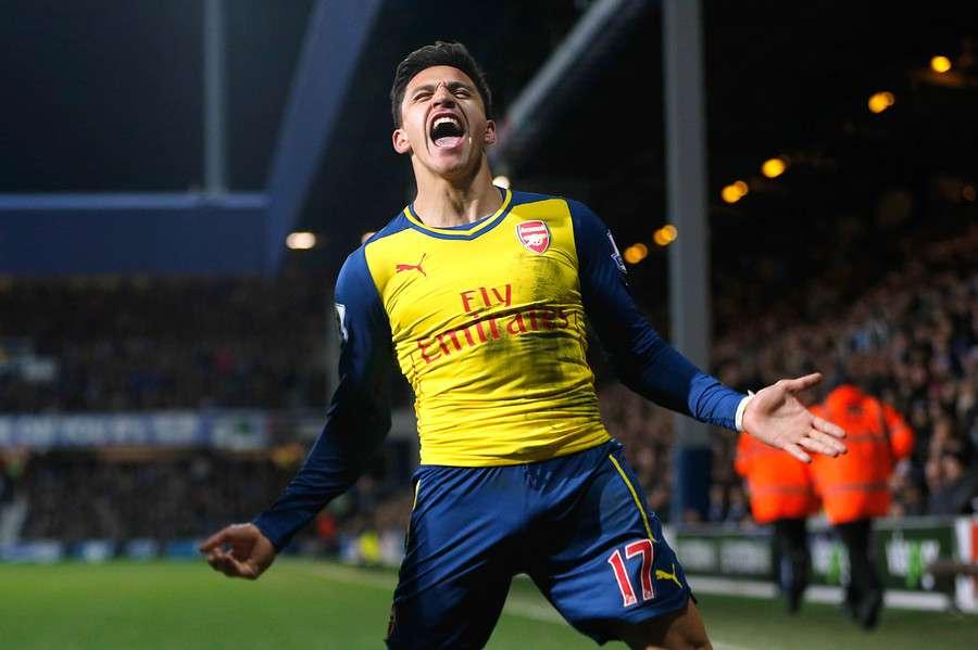 El chileno volvió a anotar en Arsenal tras varias semanas. Foto: Agencia UNO