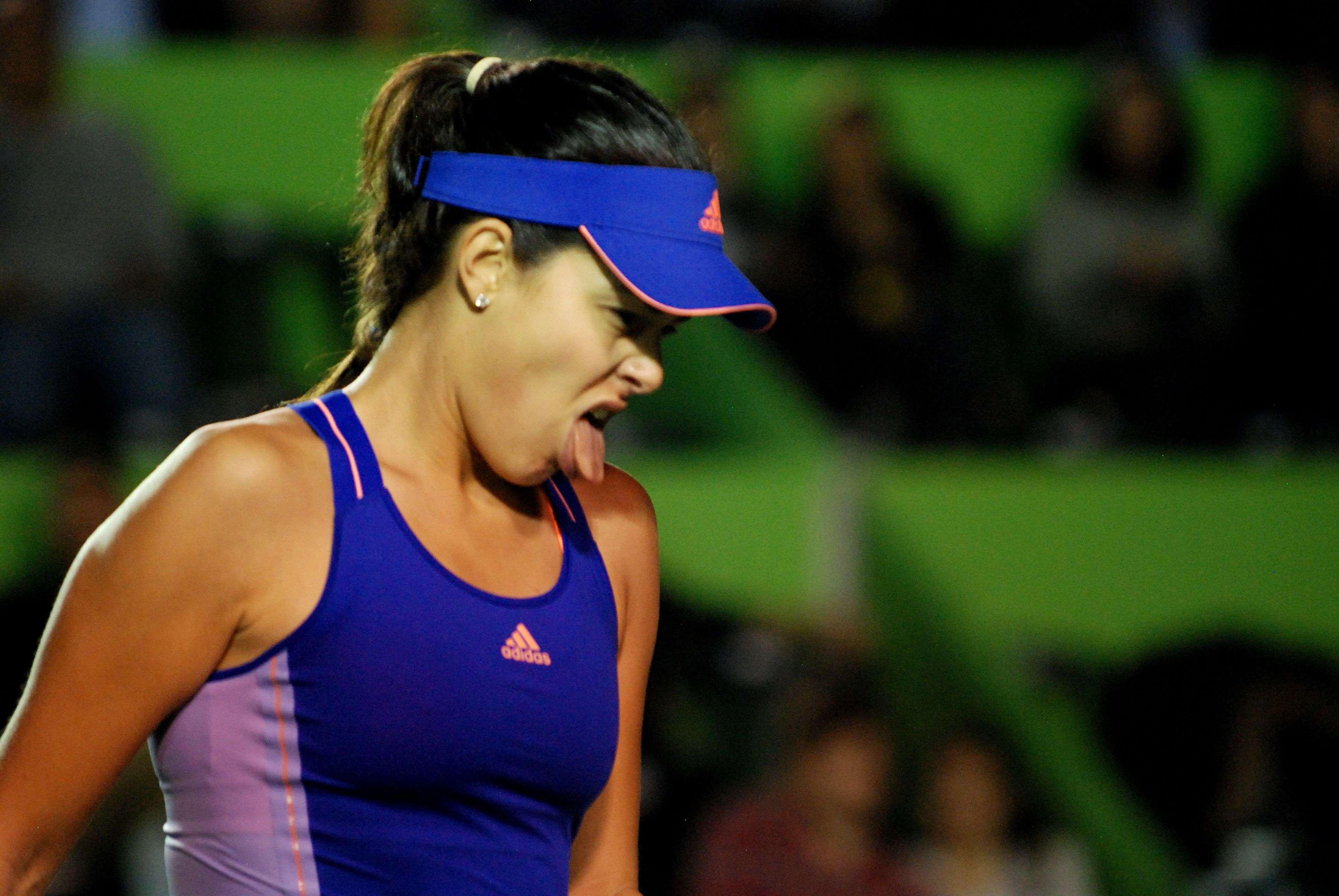 Ana Ivanovic y ese rostro de la desesperación en el Abierto de Tenis Monterrey. Foto: Emilio López/Terra