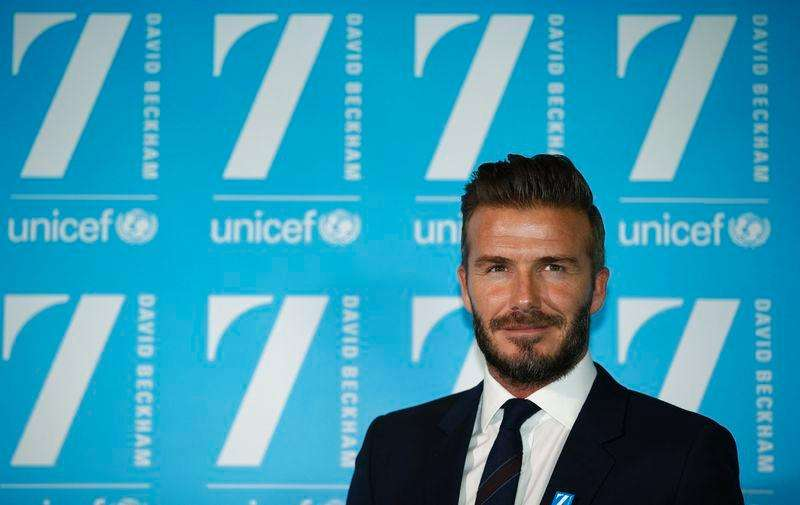 David Beckham attends a press conference at Google's headquarters in central London, February 9, 2015. Foto: Peter Nicholls/Reuters