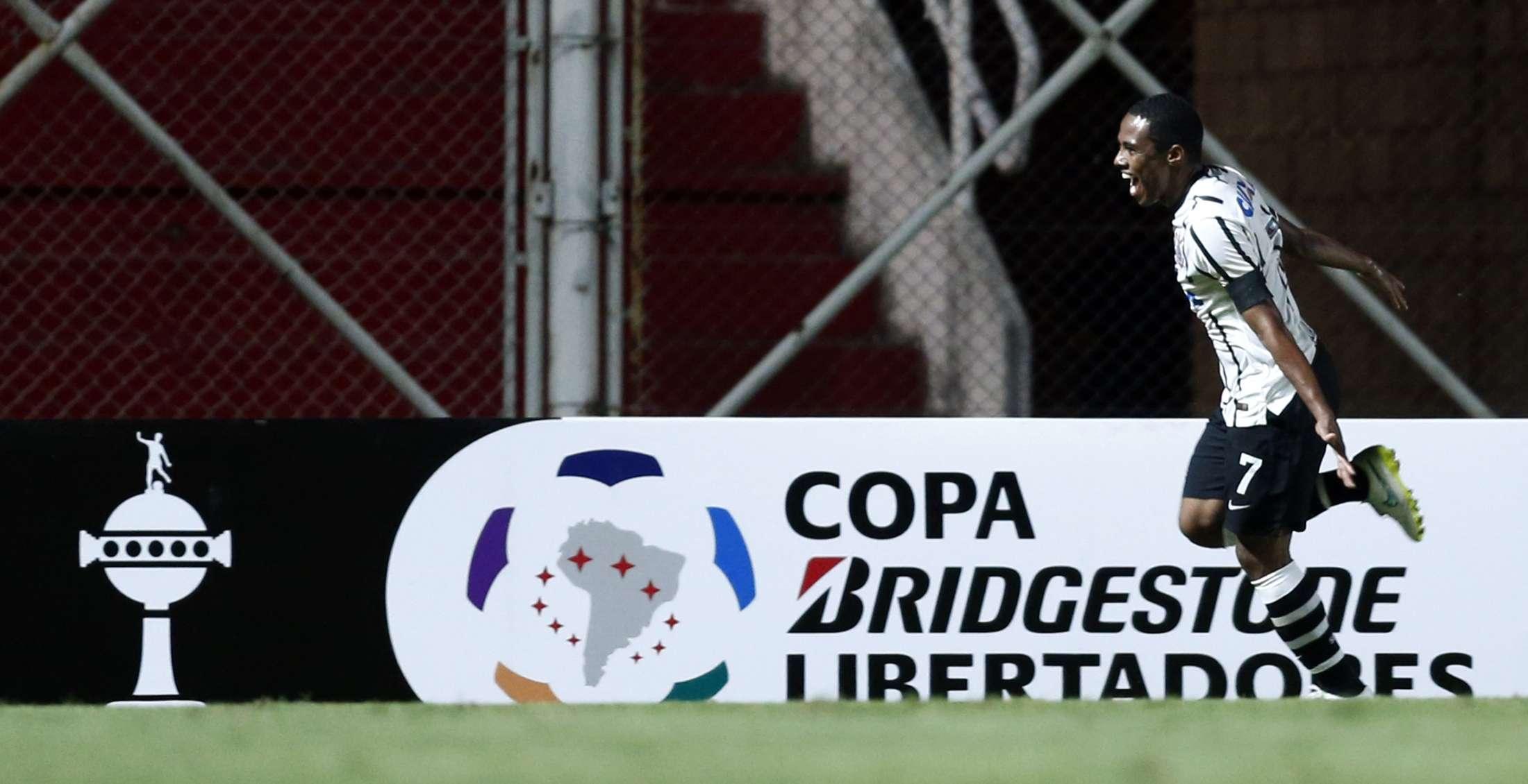 Elias comemora gol contra San Lorenzo na Argentina Foto: Marcos Brindicci/Reuters