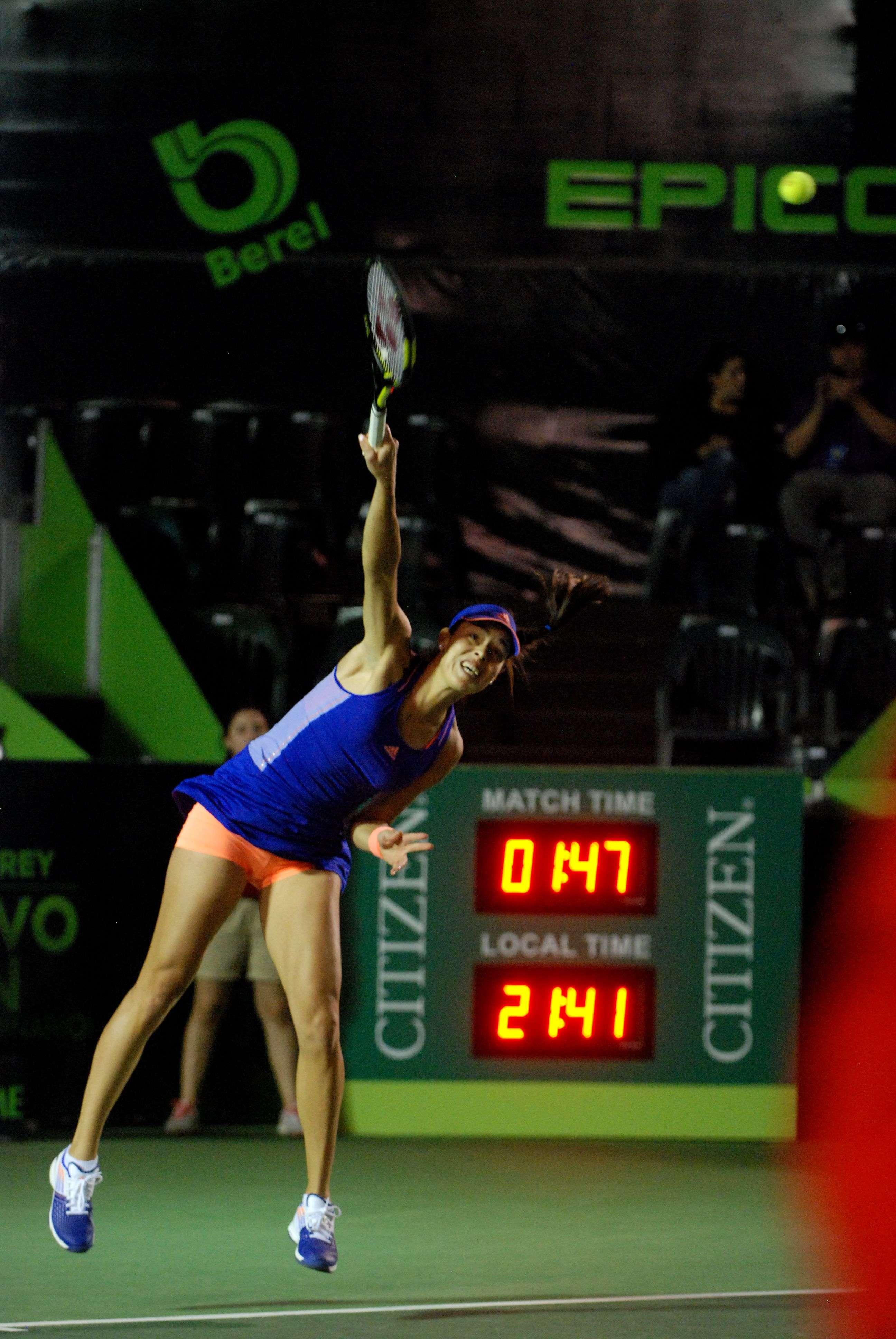 Ana Ivanovic venció por parciales de 6-3 y 6-2 a Pauline Parmentier en el Abierto de Tenis Monterrey 2015. Foto: Emilio López/ Terra