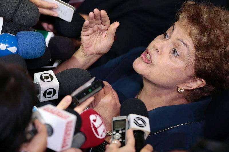 Presidente Dilma Rousseff concede entrevista no Palácio do Planalto. 26/02/2015. Foto: Ueslei Marcelino/Reuters