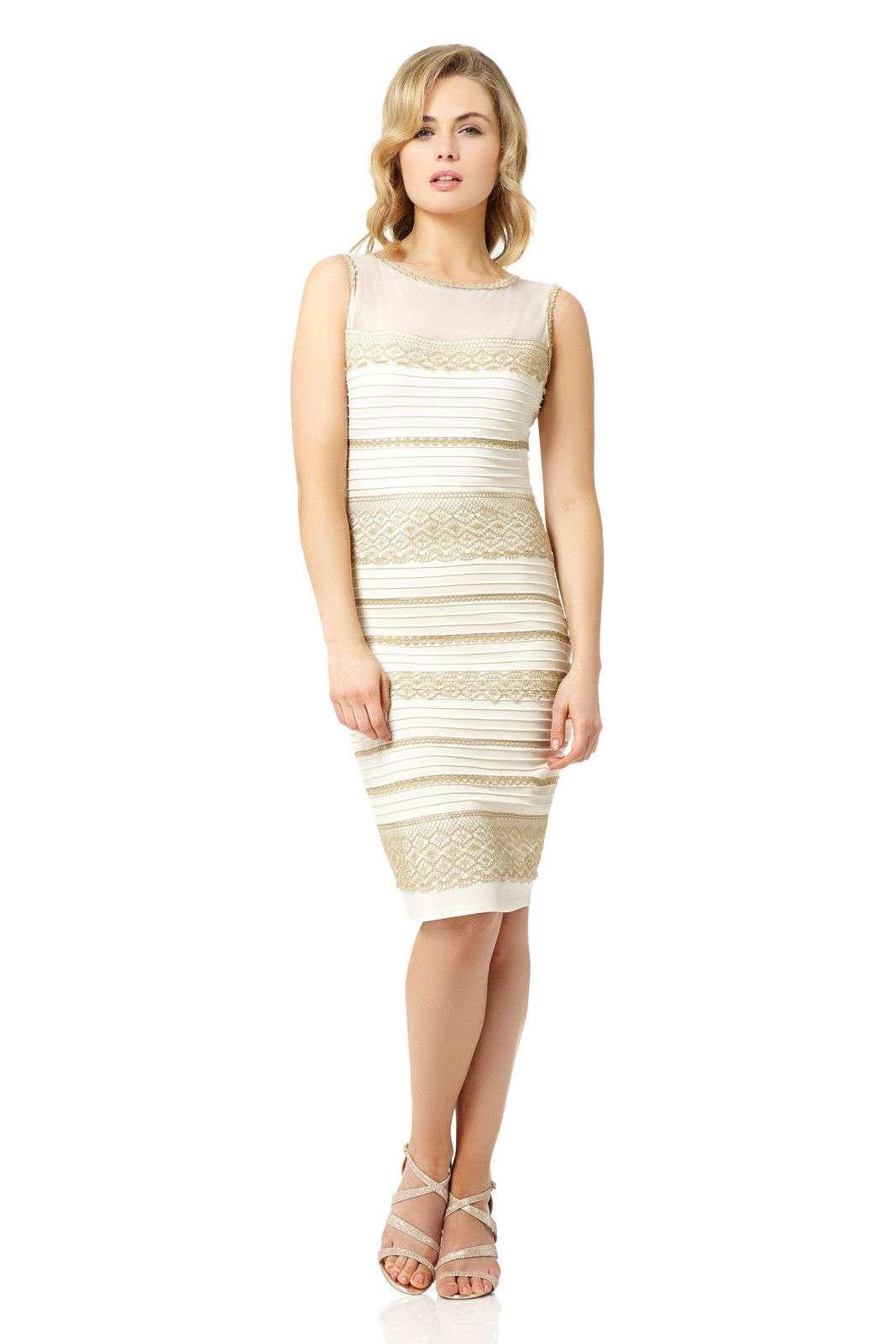 Vestido branco e dourado vai a leilão na internet Foto: Divulgação