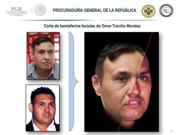 """Identificación fisonómica de Omar Treviño Morales (a) """"Z 42"""". Foto: @PGR_AIC/Twitter"""