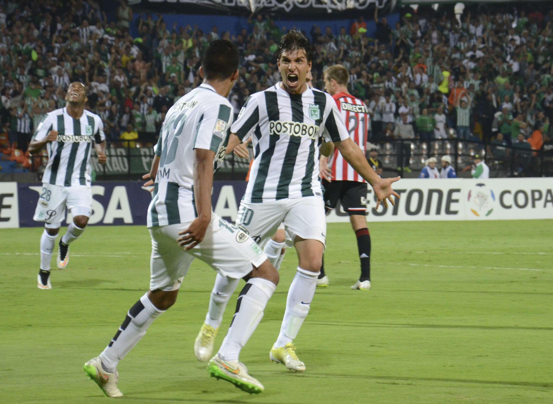 Pablo Zeballos marcó el tanto por Atlético Nacional. Foto: EFE en español
