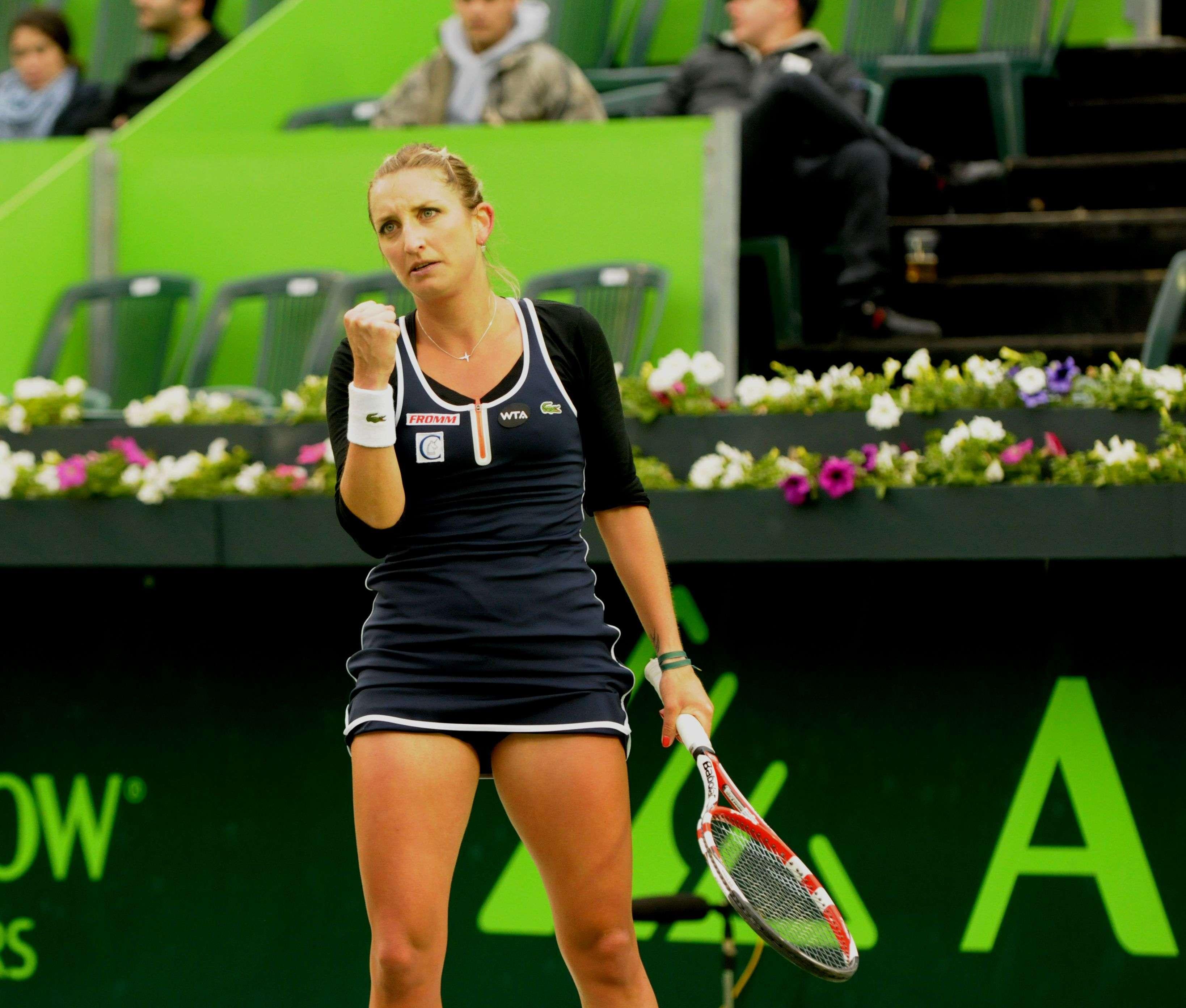 Timea Bacsinszky con un triunfo ante la ucraniana Lesia Tsurenko en el Abierto de Tenis Monterrey. Foto: Emilio López/Terra