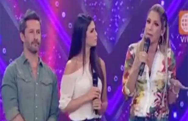 """Marco Zunino y Sully Saenz, entrevistados por Sofía Franco en """"Al aire"""". Foto: Captura de video"""