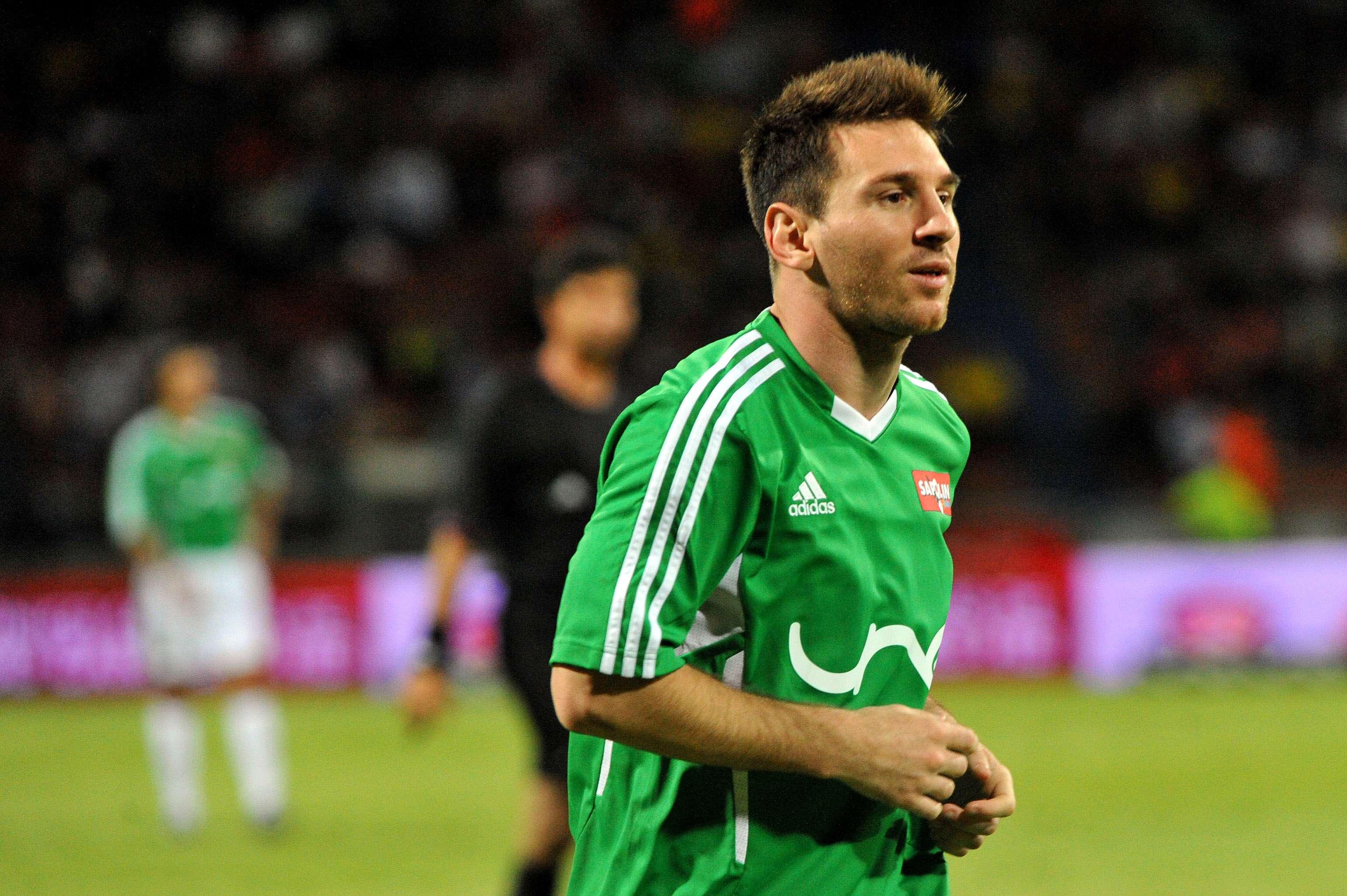 Lionel Messi organizou amistosos na Colômbia Foto: Gal Schweizer/Getty Images