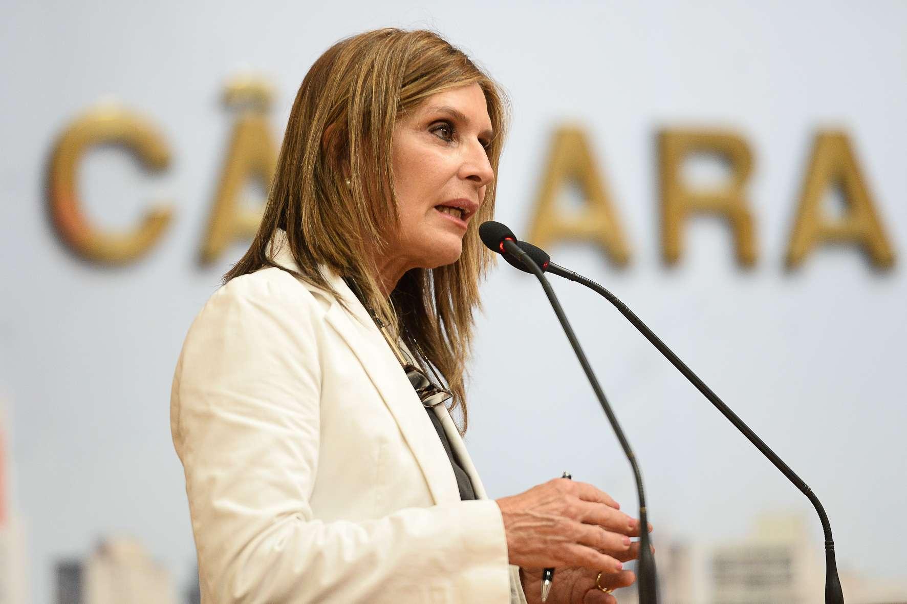 Vereadora Mônica Leal, autora da proposta, no Plenário da Câmara Foto: Cassiana Martins/CMPA
