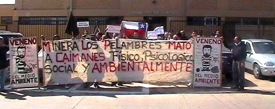 """""""Caimanes no puede ser criminalizada por exigir su derecho al agua"""", dice el senador Navarro, del MAS Foto: http://www.navarro.cl/"""