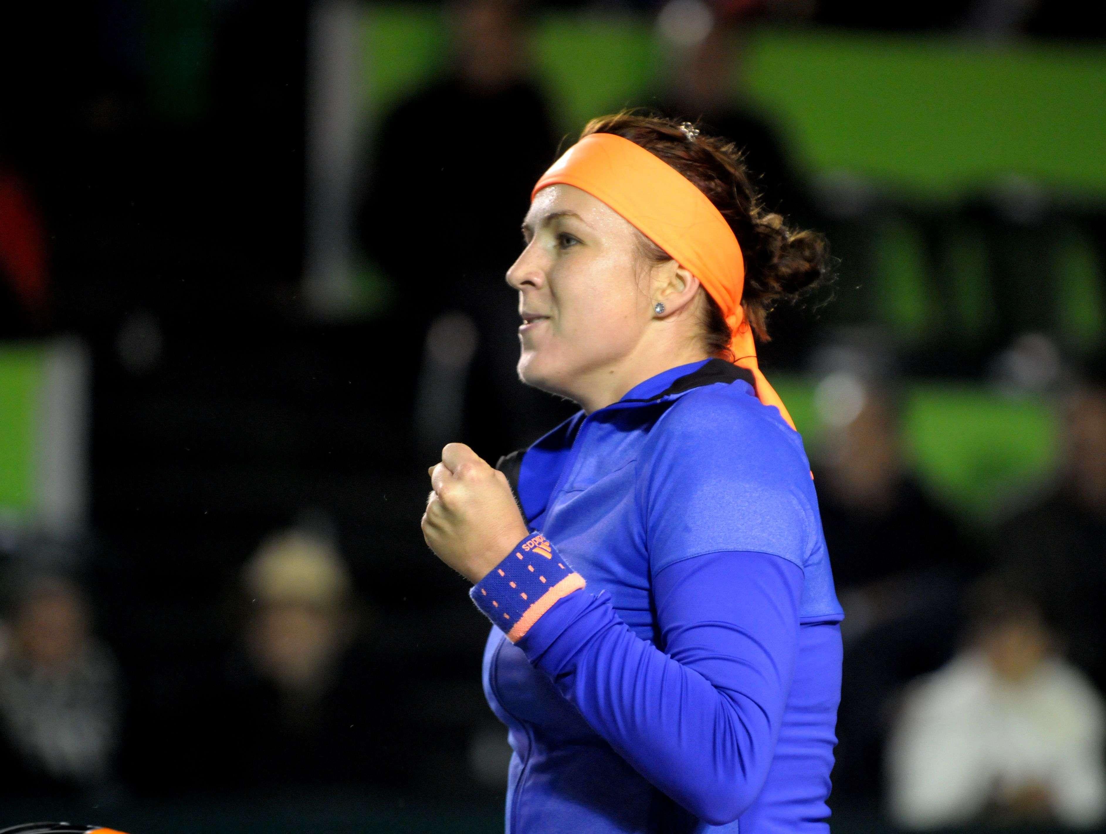 Anastasia Pavlyuchenkova con un triunfo en Monterrey que la pone en cuartos de final. Foto: Emilio López/Terra