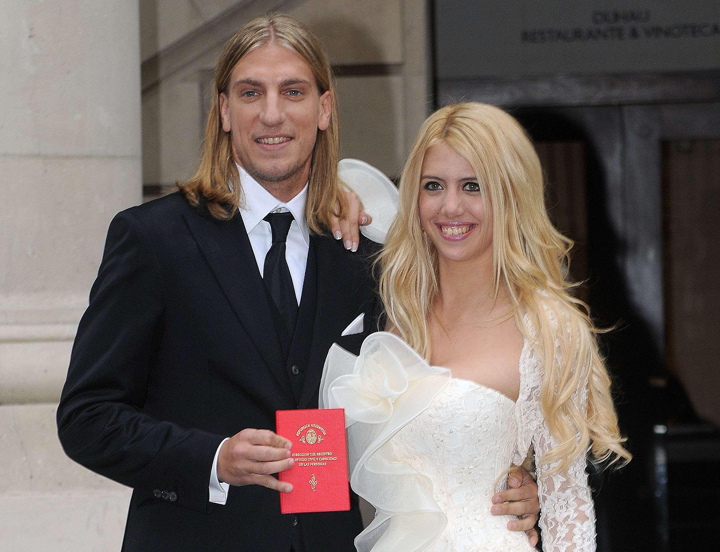 Wanda Nara y Maxi López se casaron el 23 de mayo de 2008. Tuvieron tres hijos. Después, se separaron tras un escandaloso divorcio. Foto: NA