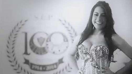 Miss Centenário dá prova de amor pelo Palmeiras; veja