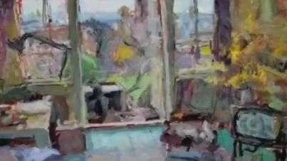 Pintor cego há 25 anos tem obras que valem até R$ 200 mil