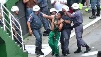 PM prende torcedor no clássico Palmeiras x Corinthians