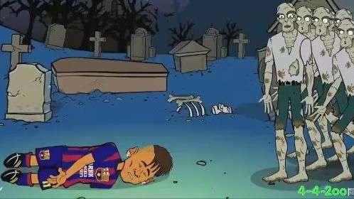 """Com """"Neymar morto"""", desenho faz duelo jogadores x zumbis"""