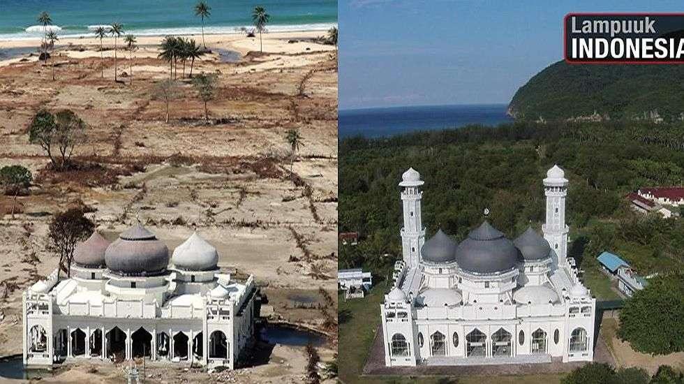 Imagens mostram recuperação de áreas 10 anos após tsunami