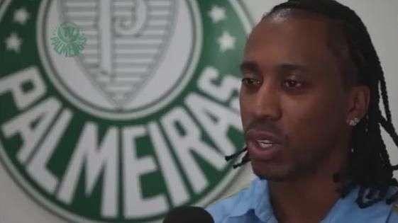 Arouca fala pela primeira vez como jogador do Palmeiras