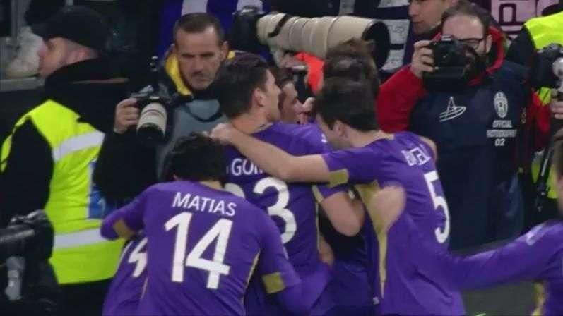 Copa da Itália: veja os gols de Juventus 1 x 2 Fiorentina