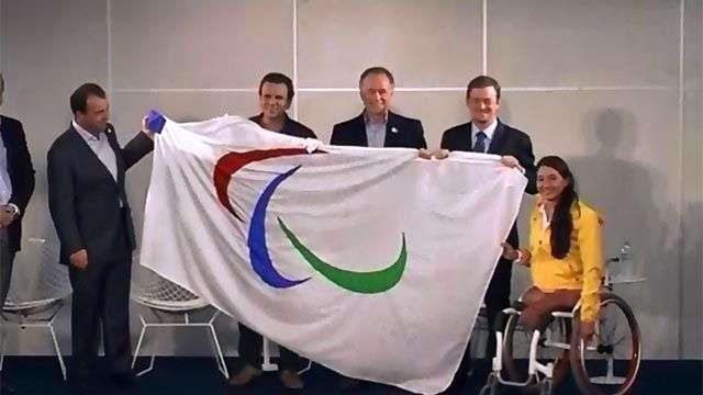 La bandera paralímpica llega a Río de Janeiro